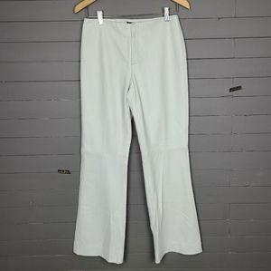 Dana Buchman White Leather Pants